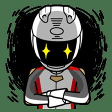 Moto Bike Rider racing suit, Everyday sticker #2965196