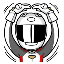 Moto Bike Rider racing suit, Everyday sticker #2965211