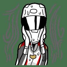 Moto Bike Rider racing suit, Everyday sticker #2965218