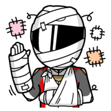 Moto Bike Rider racing suit, Everyday sticker #2965234