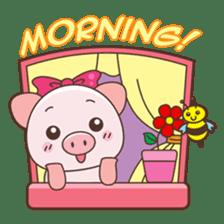 Piyu the pig sticker #2968876