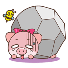 Piyu the pig sticker #2968878