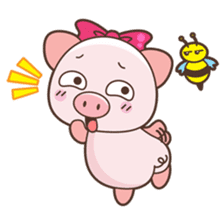Piyu the pig sticker #2968879