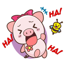 Piyu the pig sticker #2968881