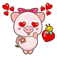 Piyu the pig sticker #2968882
