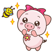 Piyu the pig sticker #2968883