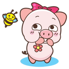 Piyu the pig sticker #2968884