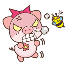 Piyu the pig sticker #2968886