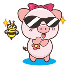 Piyu the pig sticker #2968887