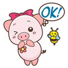 Piyu the pig sticker #2968891