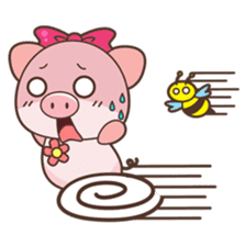 Piyu the pig sticker #2968892