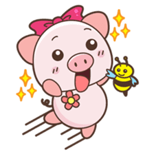 Piyu the pig sticker #2968893