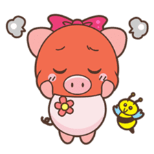 Piyu the pig sticker #2968894