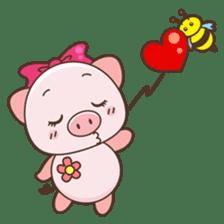 Piyu the pig sticker #2968895