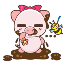 Piyu the pig sticker #2968901