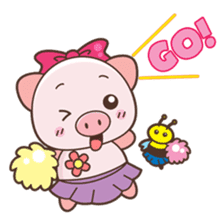 Piyu the pig sticker #2968903