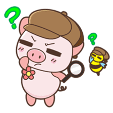 Piyu the pig sticker #2968904