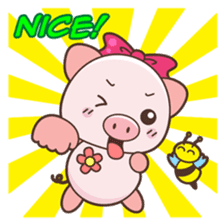 Piyu the pig sticker #2968905