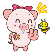 Piyu the pig sticker #2968906