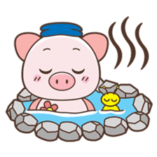 Piyu the pig sticker #2968907