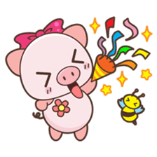 Piyu the pig sticker #2968908