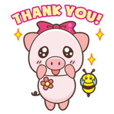 Piyu the pig sticker #2968910