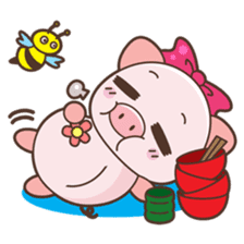 Piyu the pig sticker #2968911