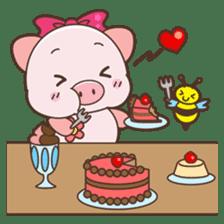 Piyu the pig sticker #2968913