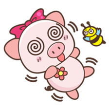 Piyu the pig sticker #2968914
