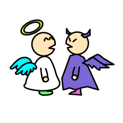 Cute angels and demons