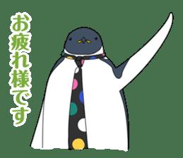 Gentleman Penguin Nietzsche sticker #2982355
