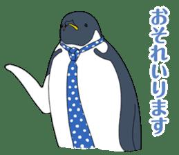 Gentleman Penguin Nietzsche sticker #2982356