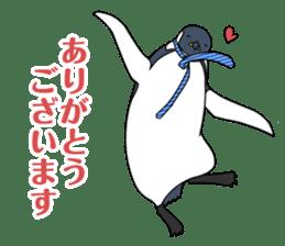 Gentleman Penguin Nietzsche sticker #2982357
