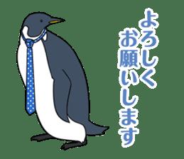 Gentleman Penguin Nietzsche sticker #2982358