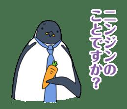 Gentleman Penguin Nietzsche sticker #2982359