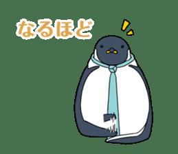 Gentleman Penguin Nietzsche sticker #2982360