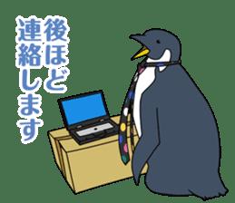 Gentleman Penguin Nietzsche sticker #2982361