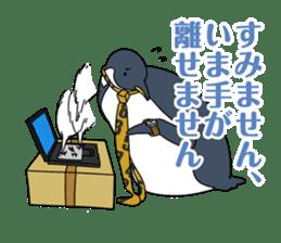 Gentleman Penguin Nietzsche sticker #2982363