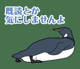 Gentleman Penguin Nietzsche sticker #2982365