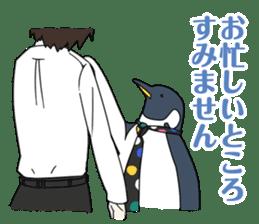 Gentleman Penguin Nietzsche sticker #2982368