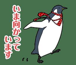 Gentleman Penguin Nietzsche sticker #2982371