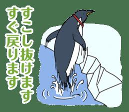 Gentleman Penguin Nietzsche sticker #2982373