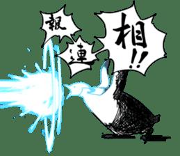 Gentleman Penguin Nietzsche sticker #2982378