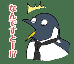 Gentleman Penguin Nietzsche sticker #2982380