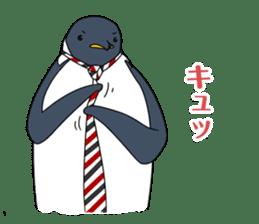 Gentleman Penguin Nietzsche sticker #2982381