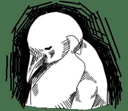 Gentleman Penguin Nietzsche sticker #2982382