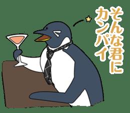 Gentleman Penguin Nietzsche sticker #2982383