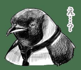 Gentleman Penguin Nietzsche sticker #2982387