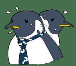 Gentleman Penguin Nietzsche sticker #2982392
