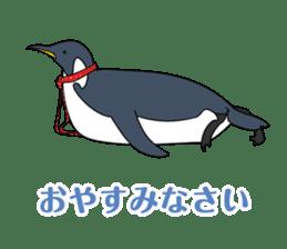 Gentleman Penguin Nietzsche sticker #2982393